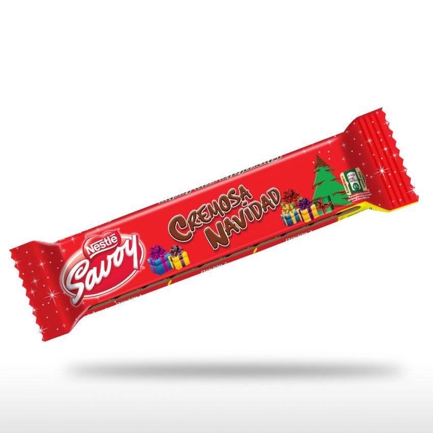 SAVOY® Chocolate con Leche® Cremosa Navidad de 70g
