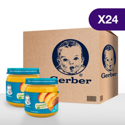 GERBER® Durazno - Caja de 24 unidades